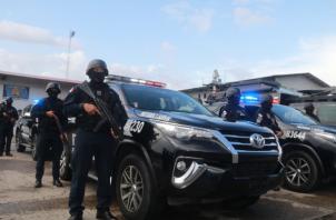 La Policía Nacional recibió 40 camionetas 4x4. Foto/Cortesía