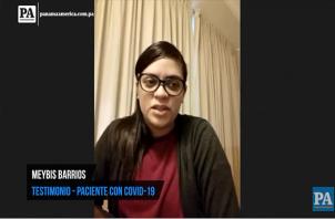 Meybis Barrio lucha junto a cinco miembros de su familia contra el COVID19.