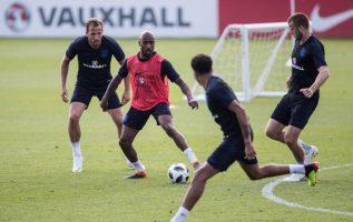 Entrenamientos de la selección inglesa en St George's Park. Foto England football team