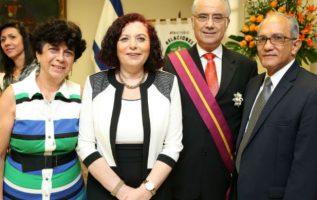 Irina de Ardila, Hannia Galilee, Alexander Galilee y José Ardila. Foto: Archivo